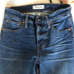"9"" High Rise Skinny Madewell Jeans"